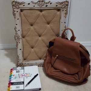 Madden girl camel brown backpack
